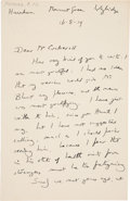 Autographs:Authors, E. M. Forster Autograph Letters Signed and a Typed Letter Signed....