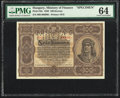 Hungary Ministry of Finance 100 Korona 1.1.1920 Pick 63s Specimen PMG Choice Uncirculated 64