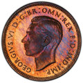Great Britain: George VI Proof Farthing 1937 PR66 Red and Brown PCGS