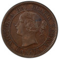 """Canada: Victoria """"Double Punched Narrow 9, Type 1"""" Cent 1859 XF45 Brown PCGS"""