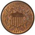 1871 2C MS65 Red and Brown PCGS. PCGS Population: (69/8 and 2/0+). NGC Census: (57/10 and 0/0+). CDN: $1,100 Whsle. Bid...