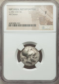Ancients: LUCANIA. Metapontum. Ca. 340-330 BC. AR stater (20mm, 5h). NGC Fine