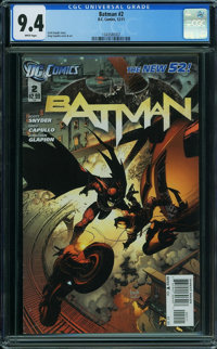 Batman #2 (DC, 2011) CGC NM 9.4 White pages