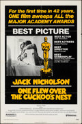 """Movie Posters:Academy Award Winners, One Flew Over the Cuckoo's Nest & Other Lot (United Artists, 1975). Folded, Very Fine-. One Sheets (2) (27.25"""" X 41"""", 27"""" X ... (Total: 2 Items)"""