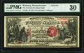 National Bank Notes:Massachusetts, Roxbury, MA - $5 1875 Fr. 401 The National Rockland Bank of Roxbury Ch. # 615 PMG Very Fine 30.. ...