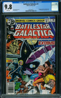 Bronze Age (1970-1979):Science Fiction, Battlestar Galactica #2 (Marvel, 1979) CGC NM/MT 9.8 White pages.