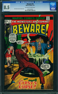 Beware #3 (Marvel, 1973) CGC VF+ 8.5 Off-white to white pages
