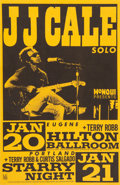 """Music Memorabilia:Posters, JJ Cale 11"""" x 17"""" Eugene and Portland Concert Poster Signed By Designer Mike King (1987)...."""