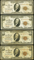 Small Size:Federal Reserve Bank Notes, Fr. 1860-K $10 1929 Federal Reserve Bank Note Fine;. Fr. 1860-L $10 1929 Federal Reserve Bank Notes (3) VG-Fine.. ... (Total: 4 notes)