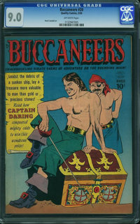 Buccaneers #20 (Quality, 1950) CGC VF/NM 9.0 Off-white pages