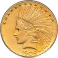 Proof Indian Eagles, 1908 $10 Motto PR66 PCGS. Gold CAC. JD-1, Low R.5....