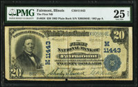 Fairmont, IL - $20 1902 Plain Back Fr. 658 The First National Bank Ch. # (M)11443 PMG Very Fine 25 Net