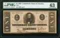 Confederate Notes:1863 Issues, T62 $1 1863 PF-1 Cr. 474 PMG Choice Uncirculated 63.. ...