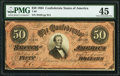 Confederate Notes:1864 Issues, T66 $50 1864 PF-8 Cr. 499 PMG Choice Extremely Fine 45.. ...