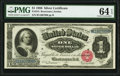 Large Size:Silver Certificates, Fr. 215 $1 1886 Silver Certificate PMG Choice Uncirculated 64 EPQ.. ...