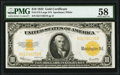 Large Size:Gold Certificates, Fr. 1173 $10 1922 Gold Certificate PMG Choice About Unc 58.. ...