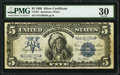 Large Size:Silver Certificates, Fr. 281 $5 1899 Silver Certificate PMG Very Fine 30.. ...