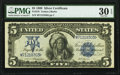 Large Size:Silver Certificates, Fr. 278 $5 1899 Silver Certificate PMG Very Fine 30 EPQ.. ...