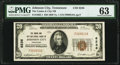 National Bank Notes:Tennessee, Johnson City, TN - $20 1929 Ty. 1 The Unaka & City National Bank Ch. # 6236 PMG Choice Uncirculated 63.. ...