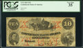 Confederate Notes:1861 Issues, T23 $10 1861 Cr. 153 PCGS Very Fine 35.. ...