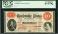 Confederate Notes:1861 Issues, T24 $10 1861 Cr. 156 PCGS Very Choice New 64PPQ.. ...