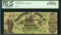 Confederate Notes:1861 Issues, T17 $20 1861 Cr. UNL PCGS Choice New 63PPQ.. ...