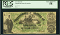 Confederate Notes:1861 Issues, T17 $20 1861 Cr. UNL PCGS Choice About New 58.. ...