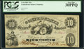 Confederate Notes:1861 Issues, T10 $10 1861 Cr. 37 PCGS Very Fine 30PPQ.. ...
