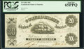 Confederate Notes:1861 Issues, T9 $20 1861 Cr. 31 PCGS Gem New 65PPQ.. ...
