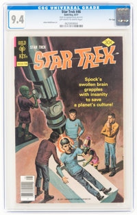 Star Trek #46 File Copy (Gold Key, 1977) CGC NM 9.4 Off-white to white pages