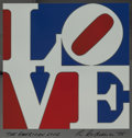 Prints & Multiples, Robert Indiana (1928-2018). The American Love, 1975. Enamel colors on aluminum. 14-1/8 x 13-3/8 inches (35.9 x 34 cm). I...