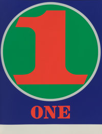 Robert Indiana (1928-2018) Numbers, 1968 10 screenprints in colors on Schollers Parole paper, bound