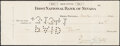 Baseball Collectibles:Others, 1941 Ty Cobb Signed Check, PSA/DNA Authentic. Per...