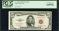 Fr. 1532* $5 1953 Legal Tender Star Note. PCGS Very Choice New 64PPQ