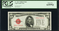 Fr. 1527 $5 1928B Mule Legal Tender Note. PCGS Choice New 63PPQ