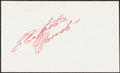 Baseball Collectibles:Others, 1960's Roberto Clemente Signed Index Card. The ma...
