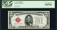 Fr. 1527 $5 1928B Legal Tender Note. PCGS Very Choice New 64PPQ
