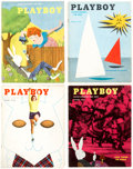 Magazines:Miscellaneous, Playboy Group of 8 (HMH Publishing, 1954-56) Condition: Average FN.... (Total: 8 Items)