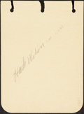 Baseball Collectibles:Others, 1930's Hack Wilson Signed Autograph Page with Others, PSA/...