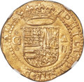 Spain, Spain: Philip II gold Cob 2 Escudos ND (1556-1598) G-A MS65 NGC,...