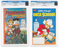 Modern Age (1980-Present):Miscellaneous, Walt Disney Giant #1/Mickey Mouse & Uncle Scrooge #nn CGC-Graded Modern Age Comics Group of 2 (Gladstone/Gemstone, 1995-2004) ... (Total: 2 Comic Books)