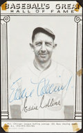 Baseball Collectibles:Others, 1948 Eddie Collins Signed Baseball's Greats Hall of Fame E...