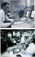 Explorers:Space Exploration, NASA Flight Directors: Glynn Lunney and Gene Kranz Signed Mission Control Photos. ... (Total: 2 Items)