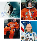 Explorers:Space Exploration, Mark and Scott Kelly: Two Signed Color Photos from Each (Four Total). ...
