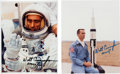 Explorers:Space Exploration, Walt Cunningham Signed Apollo 7 Color Photos (Two). ... (Total: 2 Items)