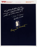 Explorers:Space Exploration, Apollo 13 Damaged Service Module Color Photo Signed by Fred Haise and Gene Kranz. ...