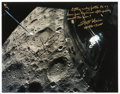 Explorers:Space Exploration, Apollo 13: James Lovell and Fred Haise Signed Large Lunar Surface Color Photo. ...