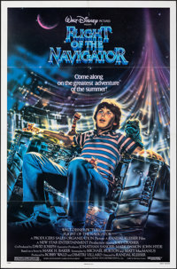 """Flight of the Navigator & Other Lot (Buena Vista, 1986). Folded, Very Fine+. One Sheets (2) (27"""" X 41""""), H..."""