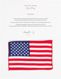 Explorers:Space Exploration, Apollo 10 Flown American Flag Directly from the John W. Young Collection, with Letter of Certification. ...