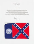 Explorers:Space Exploration, Apollo 10 Flown Georgia Flag Directly from the John W. Young Collection, with Letter of Certification. ...